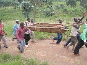 Ambulance fra en landsby